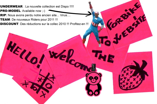 La nouvelle collection 2011 d'underwear ForBike est arrivée !