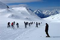 Descente de la piste de Sarenne en VTT, Alpe d'Huez