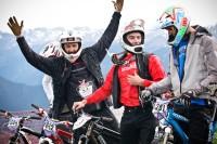 Rémy Absalon le vainqueur, Simon André second et Cédric Gracia qui cours avec son bike de 4X