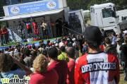 Fabien Barel devient championne de France de VTT de descente 2009 à Oz en Oisans. Il est accompagné sur le podium par Mickaël Pascal et Fabien Pédemanaud.