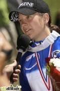 Céline Gros devient championne de France de VTT de descente 2009 à Oz en Oisans.