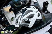 Le casque Kali Protectives pour le XC / enduro : bien couvrant, très joli et surtout très très light.