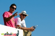Cédric Gracia et Greg Minaar, les juges VIP du slopestyle. Quand on vous dit que le Roc d'Azur est The place to be !