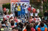 Le podium du 4X de cette Avalanche Cup de Lyon : Fabien Cousinié, Thibaut Ruffin, Florent Payet et Aurélien Giordanengo.