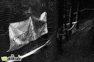 Avant la boue, on pouvait lire Champéry - Les Crosets sur cette banderole ...