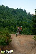 A l'attaque sur les pistes de Ch�tel pendant la Pass'Portes du Soleil 2010.