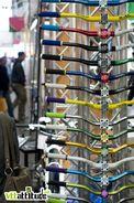 Assortiment de couleurs sur le stand Reverse / Solid. Roc d'Azur 2010.